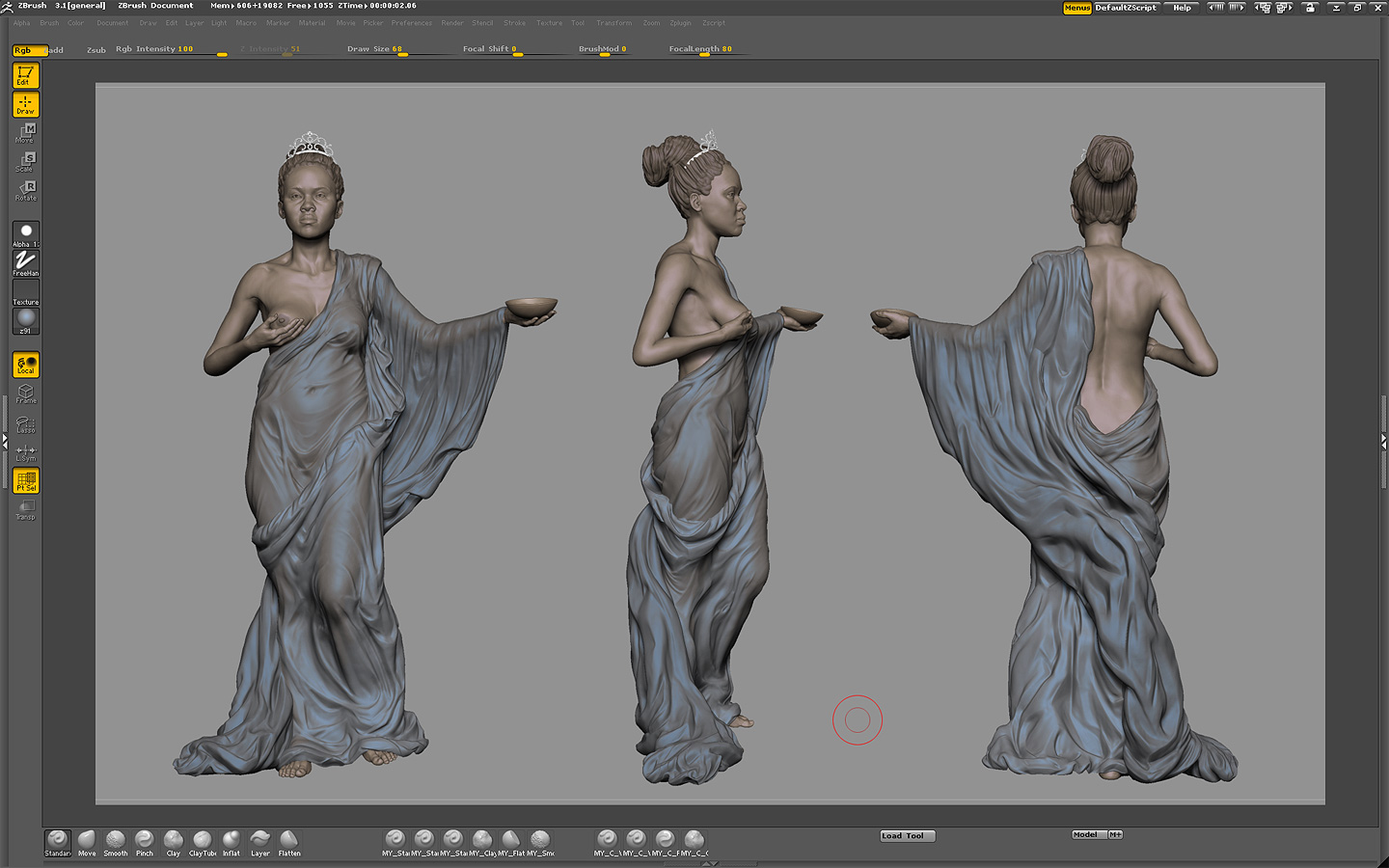 look in ZBrush (the areas