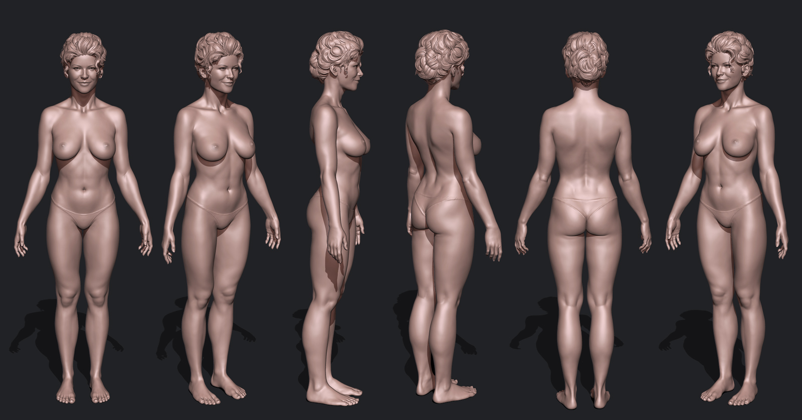 reference t Nude female pose