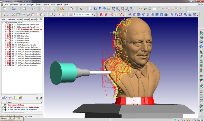 selwy com » CNC-Milling the human head